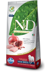 N&D GF DOG Adult Maxi Chicken&Pomegranate 12g